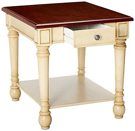Amazon.com: Posavasos muebles madera mesa auxiliar con cajón ...