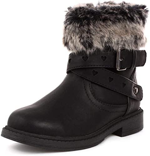 Walkright Girls Faux Fur Ankle Boot in