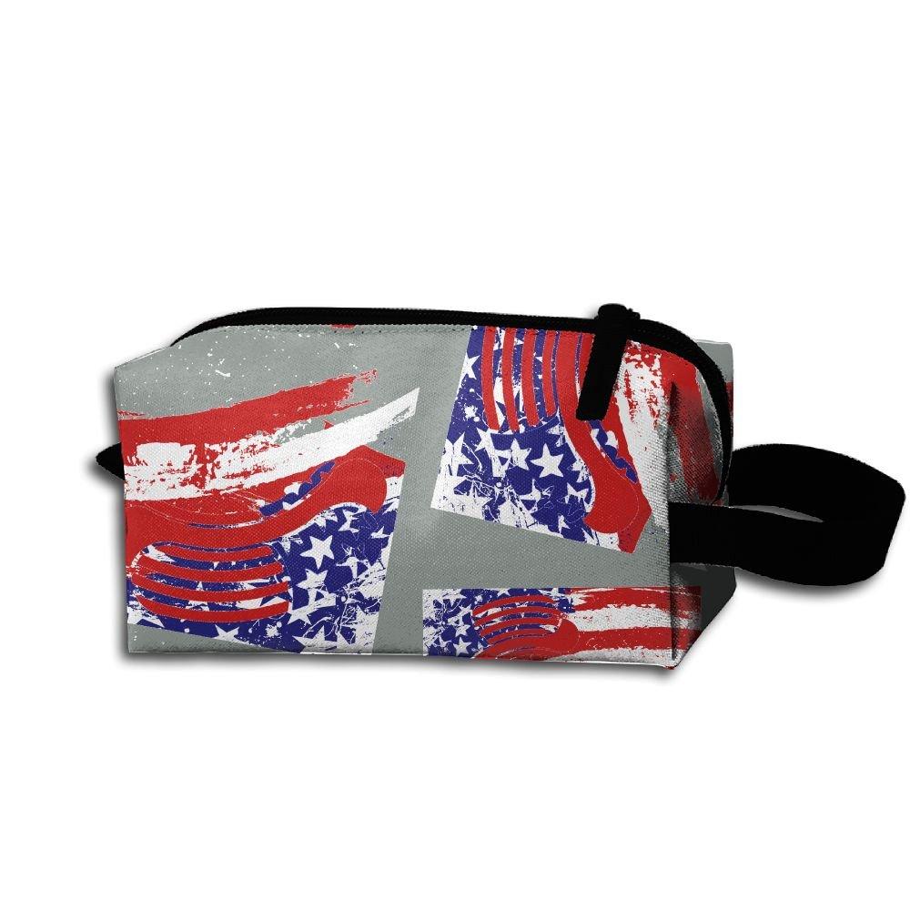 64b021c45b Hot Dog American Flag Men   Women Toiletry Shaving Kit Organizer Super  Funny Portable Travel Cosmetic