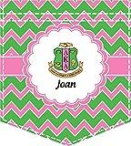 Pink & Green AKA Chevron Iron On Faux Pocket