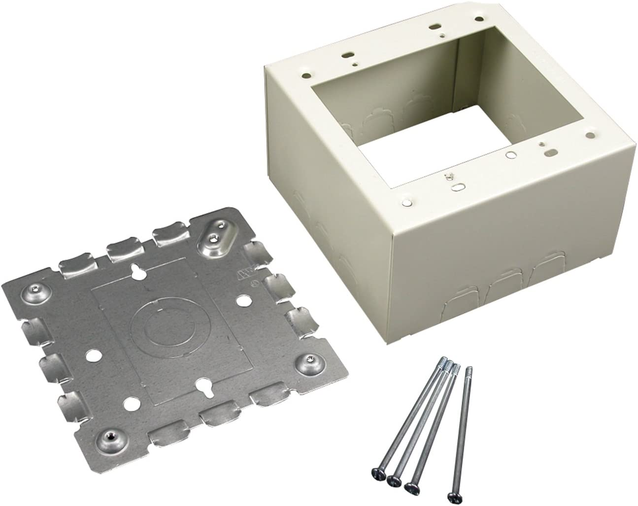 White Plastic Wiremold NMW3-2 Raceway 2-Gang Outlet//Switch Box