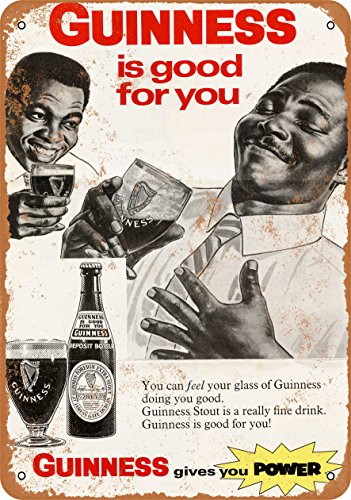 Wall-Color 9 x 12 Metal Sign - 1968 Guinness Stout Beer - Vintage Look - Guinness Beer Stout