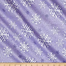 Michael Miller Winter Frost Snowfall Amethyst Fabric By The Yard