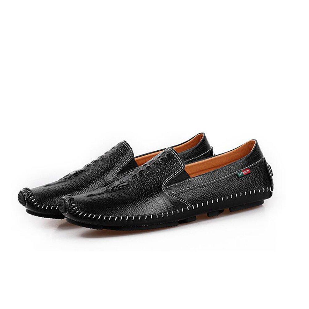Onfly New Männer Schuhe Leder 2018 neue Fahr Schuhe Mode Business Casual Männer Schuhe Leder Fahr Schuhe faule Schuhe eu Größe (Farbe   Schwarz, Farbe   38)