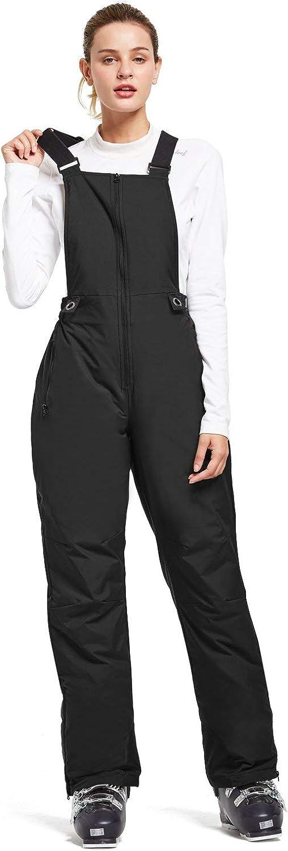 BALEAF Women's Insulated Waterproof Ski Bib Overalls Snow Windproof Snowboarding Pant: Clothing