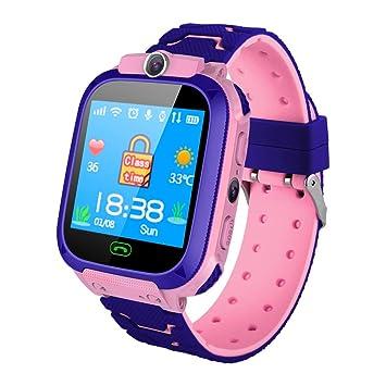 VEHOME Smart Pulsera-Reloj Inteligente para niños DS39 rastreador de GPS - niños y niñas con cámara-Monitores de Actividad-Relojes Deportivos: Amazon.es: ...