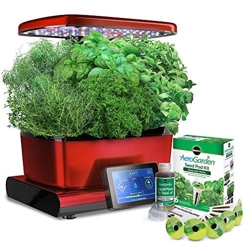 AeroGrow AeroGarden Harvest Touch with Gourmet Herbs Seed Pod Kit 901056-1200 , Red by AeroGrow