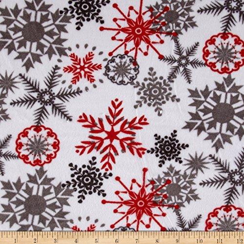 Shannon Fabrics Minky Cuddle Ice Crystals Scarlet ()