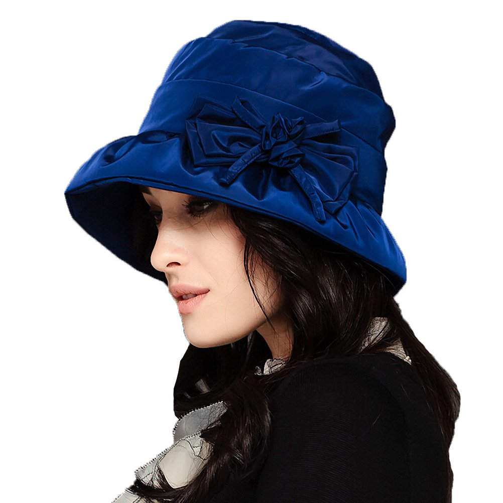 Maitose&Trade; Women's Waterproof Windproof Bucket Hat Blue