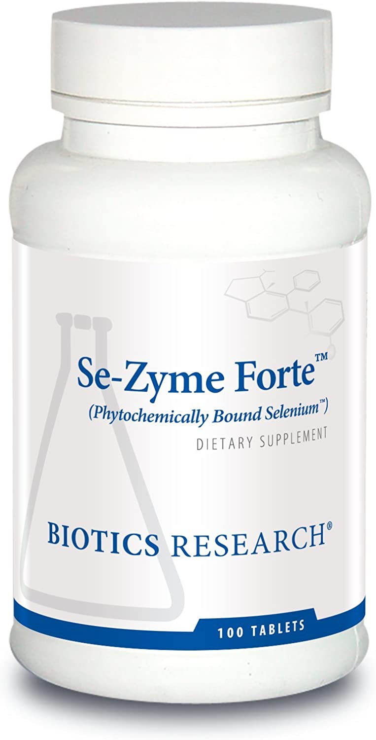 Biotics Research Se-Zyme Forte™– Whole Food Selenium Source, Reproduction, Thyroid Gland Function, DNA Production, Cognitive Health, Potent Antioxidant. 100 Tabs