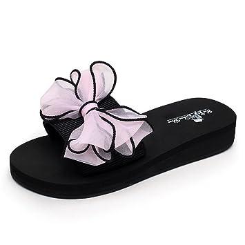 Hausschuhe MEIDUO Sandalen Weibliche Sommer Pantoffeln Dicke Pantoffeln Flat Strand 18-40 Jahre