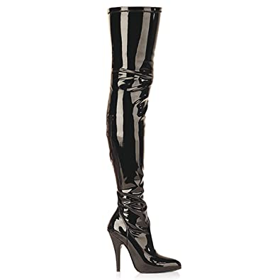 91c858c14e8 Pleaser Seduce-3000 - Sexy high Heels Stretch Overknee Boots Sizes 3 ...