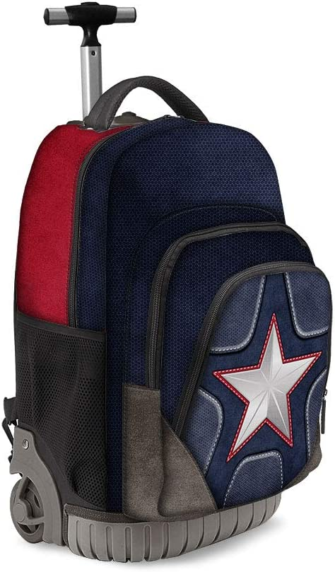 39.5 liters 47 cm Multicolour Karactermania Captain America Suit-zaino Trolley Travel GTS Sac /à Dos Loisir Multicolore