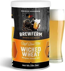 Brewferm Wicked Wheat Belgian Ale Brew Mix - 15 liters/4 gal - 6.5% ABV - Premium Homebrew Craft Brew Mix