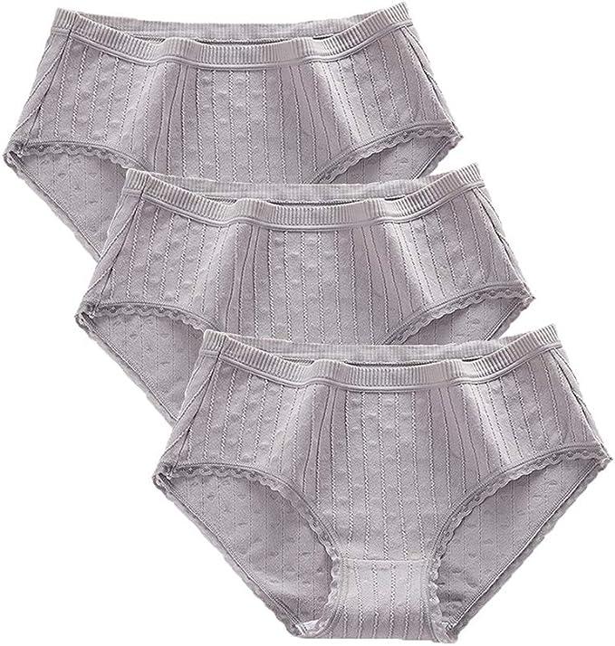Bragas de Mujer Ropa Interior Femenina Calzoncillos de Algodón de Cintura Media de Color Sólido para Mujer: Amazon.es: Ropa y accesorios