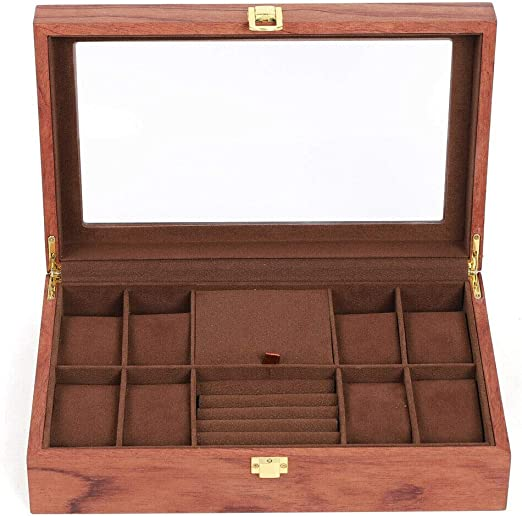 ROSEWOOD EARRING  BOX RING
