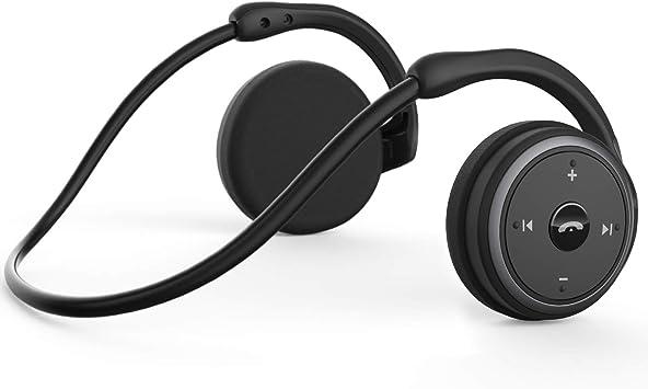 Auriculares Bluetooth 4.1 Deportivos Inalámbricos Cascos,Inalámbricos Running Impermeable Cascos Correr con Micrófono,Hi-Fi Sonido Estéreo,12 Horas de Juego,Gimnasio (Negro): Amazon.es: Electrónica