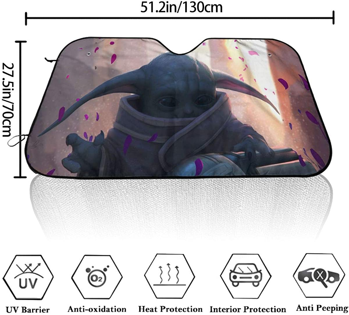 The Mandalorian Car Front Windshield Sun Shade Visor Folding Auto Sunshade for Car Truck SUV Keep Your Vehicle Cool-Desert