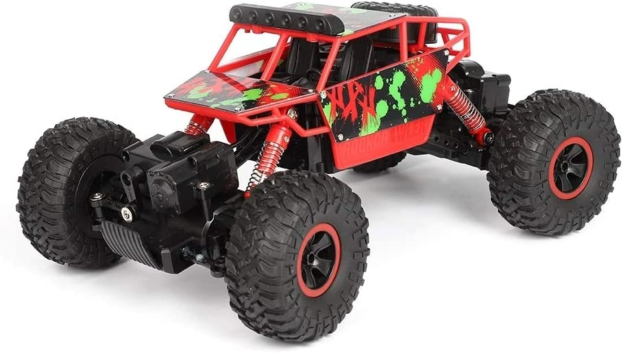 Carro de Control Remoto Whchrh X Potencia S-0018 Mini 2.4G 4WD RC orugas Todo Terreno Coches, 130 magnético Fuerte del Cepillo de carbón del Motor (Verde) (Color : Red)