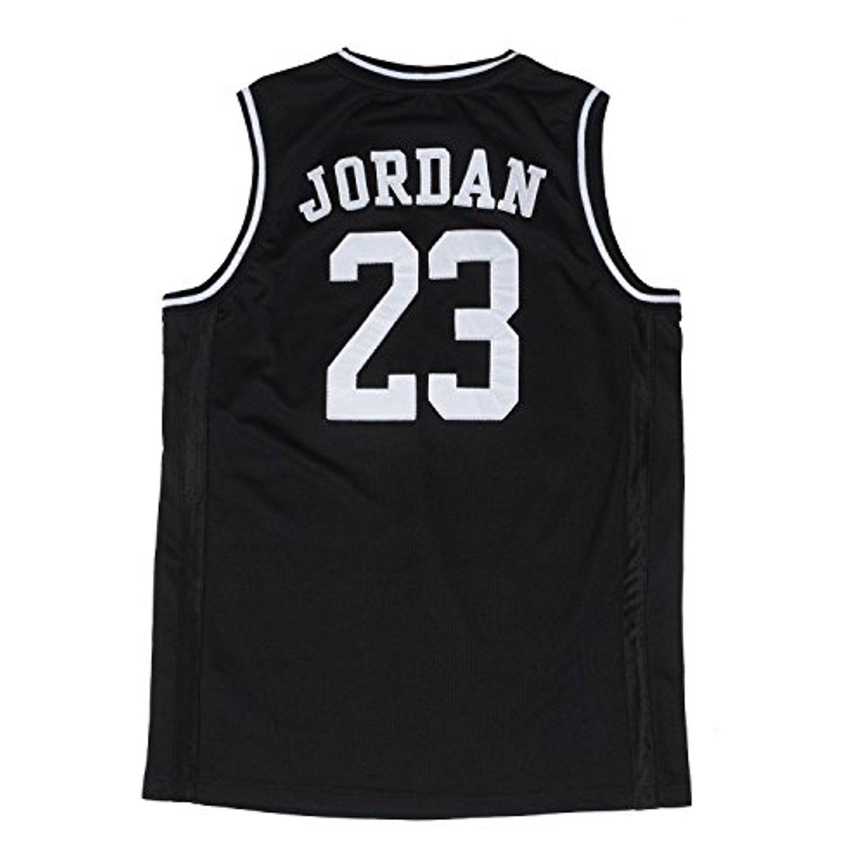 Nike Air Jordan Boy 'sユースクラシックメッシュジャージーシャツ、ブラック/ホワイト、サイズ5 B00QUI4BV0