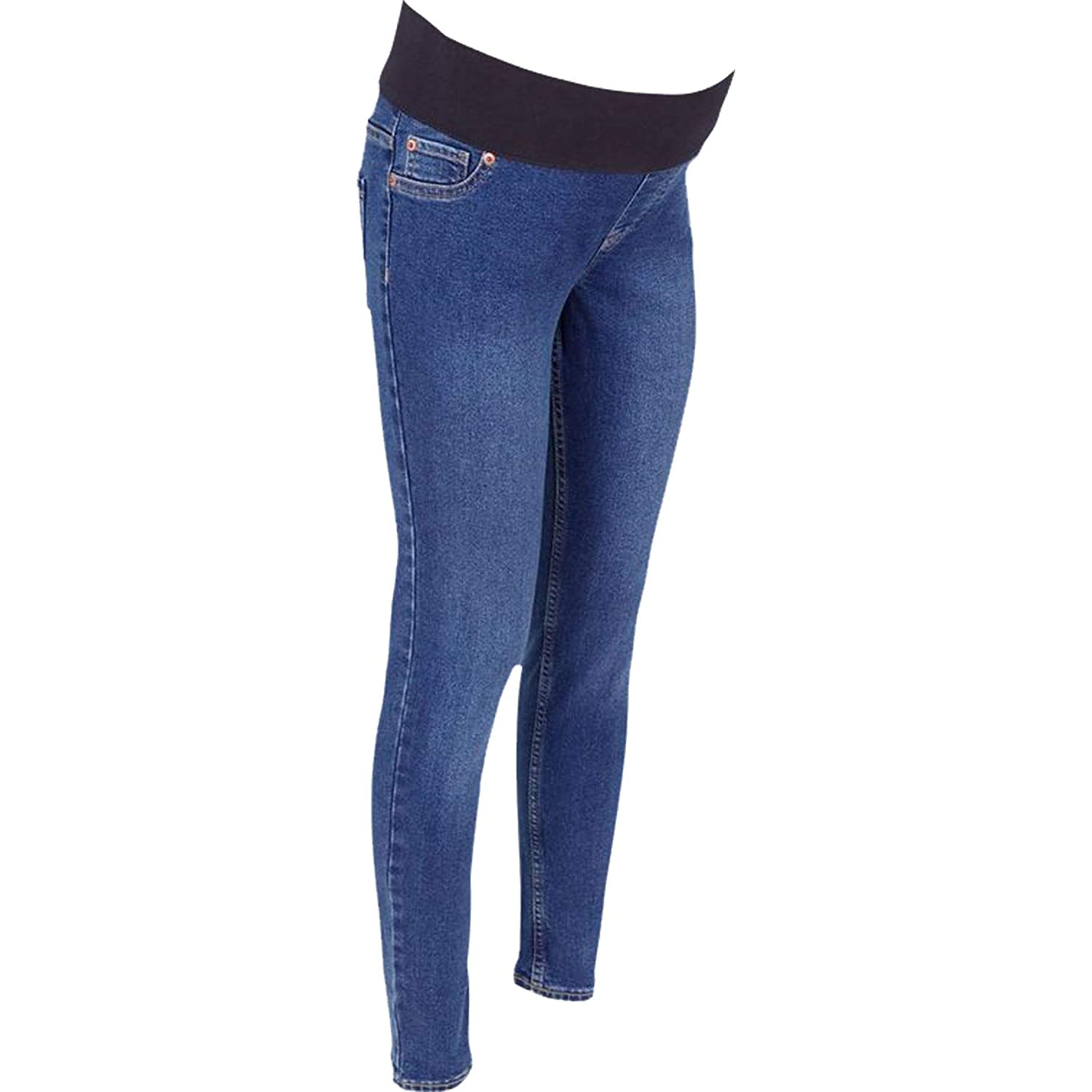 New Look Ladies Womens Blue Over Bump Maternity Skinny Stretch Jeans Jeggings ,