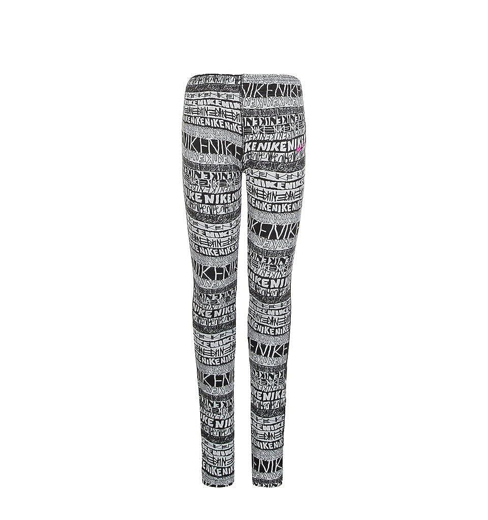 d9207f5ac92e0 Amazon.com: Nike Girls Leg-A-See Mashup Mixed-Print Leggings: Clothing