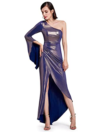Ever Pretty Long Womens One Shoulder Flare Sleeve Evening Party