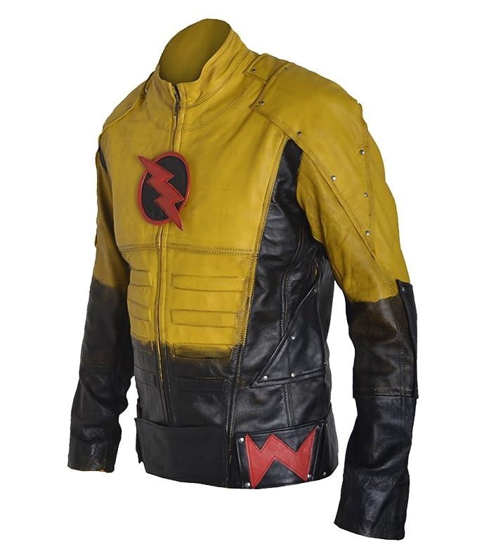 coolhides Mens Fashion Reverse Flash Genuine Lamb Leather Jacket at Amazon Mens Clothing store: