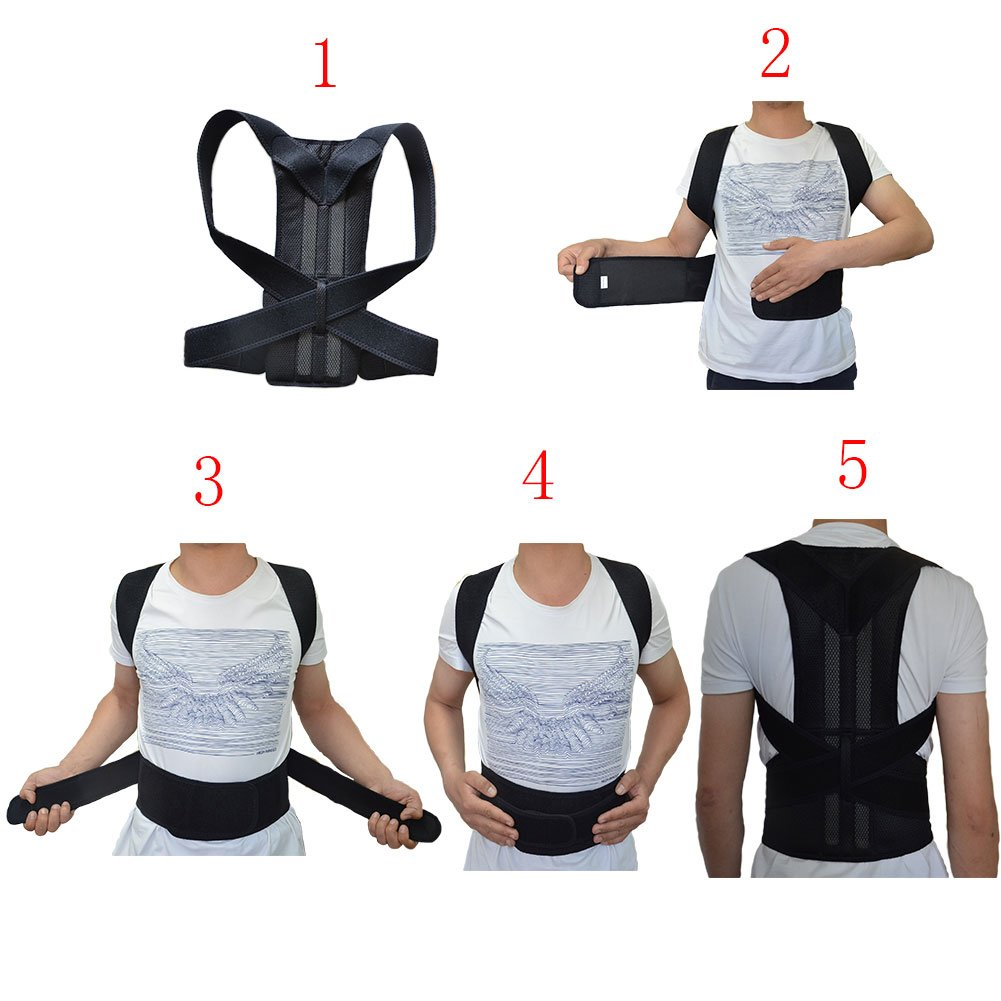 Adjustable Back Support Belt for Comfortable and Breathable Posture Appliance for Men and Women S-XXL XL