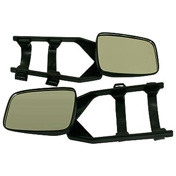 10T Outdoor Equipment - Juego de espejos retrovisores para caravanas (2 piezas), color negro: Amazon.es: Coche y moto