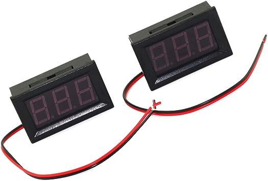 Digital Voltmeter DC 4.5V to 30V Digital Voltmeter Voltage Panel Meter Red//Blue//Green For 6V 12V Electromobile Motorcycle Car,Red