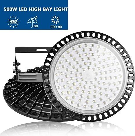 50W-500W LED High Bay Light UFO Flood Industrial Warehouse Shop Lighting Fixture