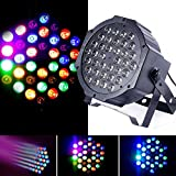 JUDYelc 36 LED Parabolic Aluminum Reflector(PAR)7 Colors Lights for Stage flashing with 4 Work Models RGB Poweful Stage lamp for DJ Club Wedding Family Party Disco Celebration