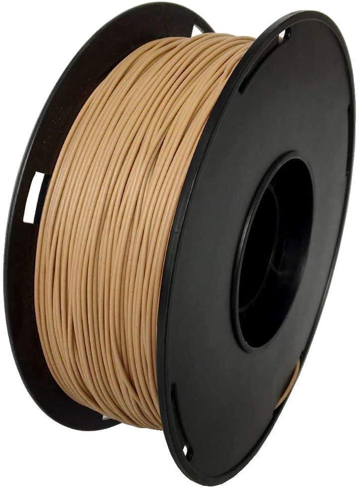 NOVAMAKER Wood 3D Printer Filament 1.75mm - Wood Filament 1KG (2.2lb), Diameter Accuracy +/- 0.05mm