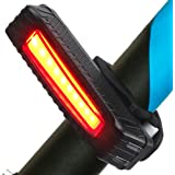 Sahara Sailor Rear Bike Light USB Rechargeable Bicycle Tail Light, 5 Light Modes, Fits on any Road Bikes, Helmets or Backpacks