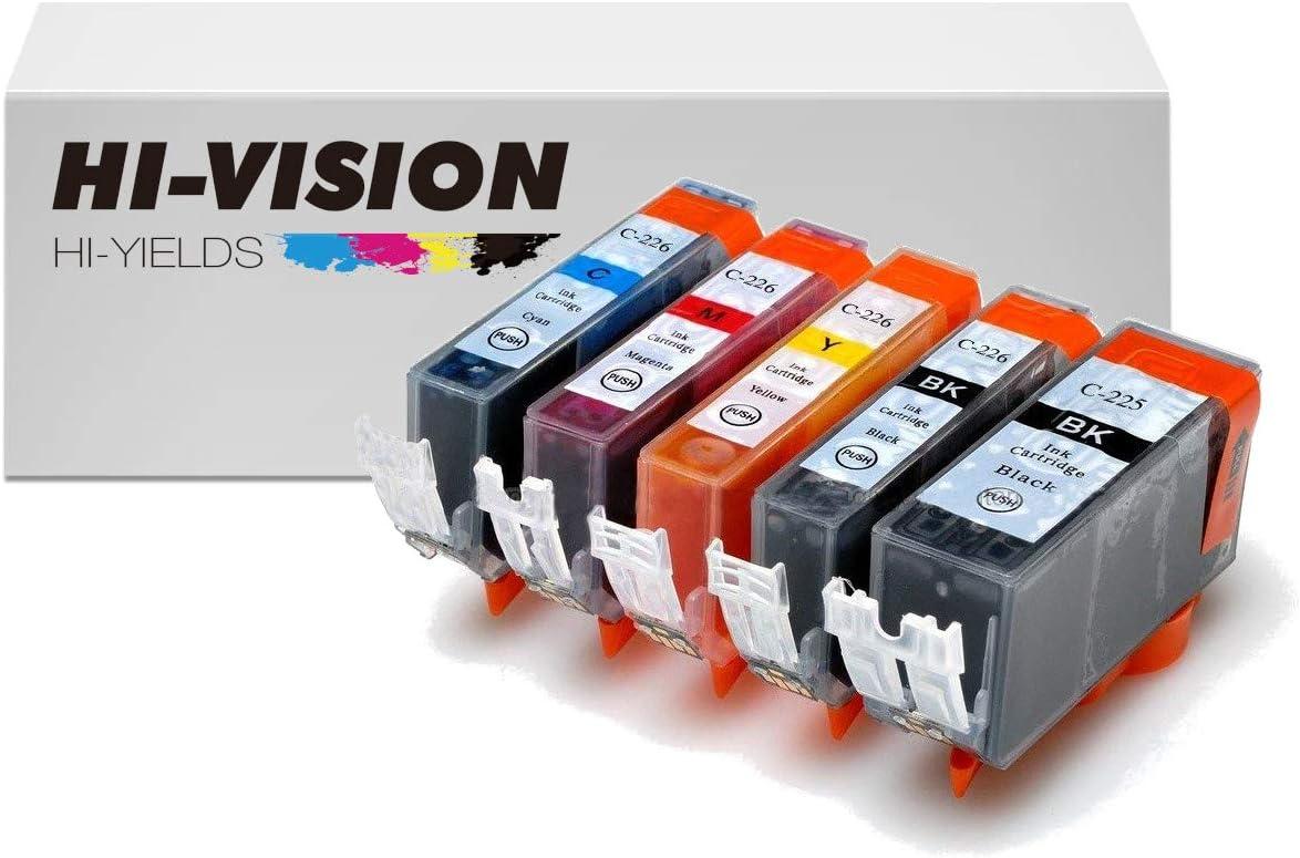 4 PGI-225PGBK 225 PGBK BLACK Print Ink Cartridge W CHIP for Canon Pixma mg8120b
