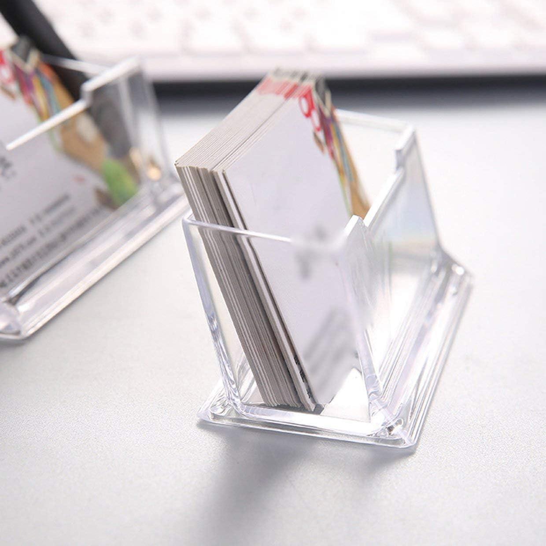 YUIO Clear Desk Shelf Storage Display Stand Acrylic Plastic Transparent Desktop Business Card Holder