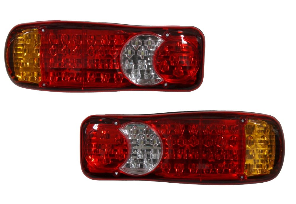 AERZETIX: 2 x Luces traseras 24V 46-LED para vehí culos de carga pesados, camió n, remolque, semirremolque C3334 camión 3800946178583