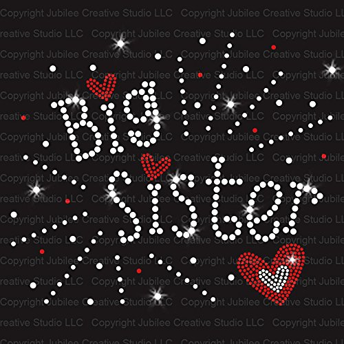 (Big Sister Iron On Rhinestone Crystals and Rhinestuds T-Shirt Transfer by JCS Rhinestones)
