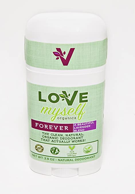 The MOST Clean, Organic and Natural Deodorant that Actually Works! Coconut Oil based, Aluminum Free, Vegan, All-Natural Organic Deodorant that keeps you Fresh Smelling. Great for Men, Women, Teens and Kids! The Love Myself Organics – FOREVER Lavender Blend