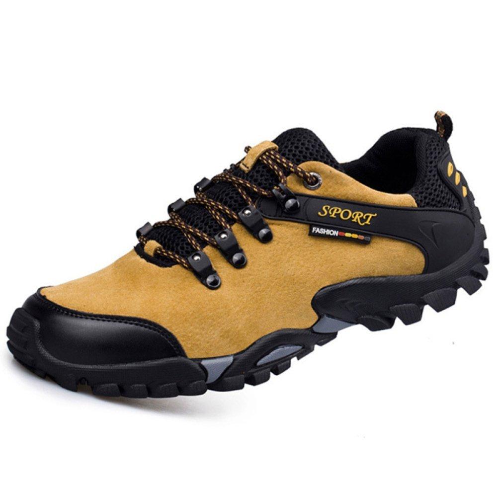 Yra Zapatos Casuales De Escalada Al Aire Libre Para Hombres Zapatos Antideslizantes De Gamuza Para Hombres Zapatos Para Caminar Para Alpinismo Trekking Sneakers 43|Yellow