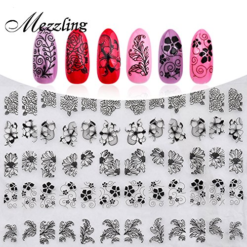 new-3d-black-flowers-nail-stickers-decals108pcs-sheet-top-quality-metallic-mixed-designs-adhesive-di