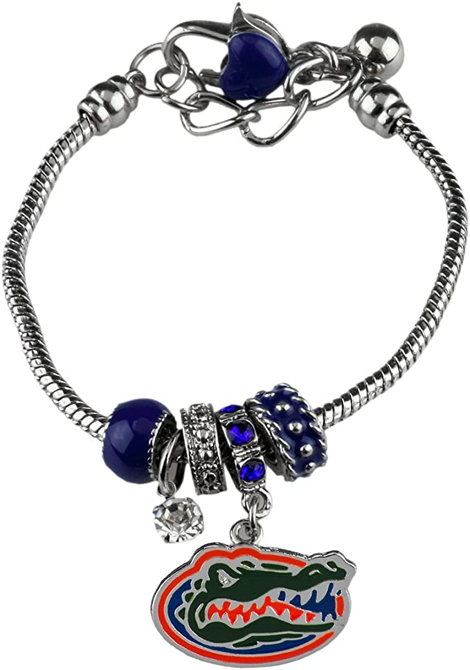 FTH Florida Gators Triple Charm Necklace with Heart and Team Color Nameplate Charms