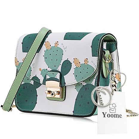 Yoome Freehand Cactus lindo patrón de dibujos animados de la cadena de patrón bolsa bolsa de