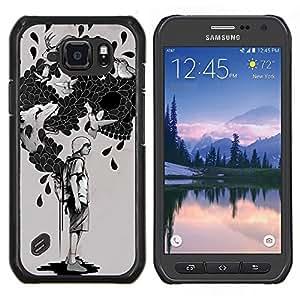EJOOY---Cubierta de la caja de protección para la piel dura ** Samsung Galaxy S6Active Active G890A ** --La bolsa de trucos