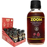 ZOOM Drink (Natural Nootropic) Boost Immunity, Energy, Stress Relief | 600mg Ashwagandha, Pomegranate & Strawberry Juices, Ginseng, Ginkgo Biloba, Saffron, Magnesium, B1, B3, B6, B12 | Rich in Vitamin C | Vegan, 100% Clean, No Artificial Flavours, Sweeteners | Pre & Post Workout | Increase Recovery & Focus (12 Pack)