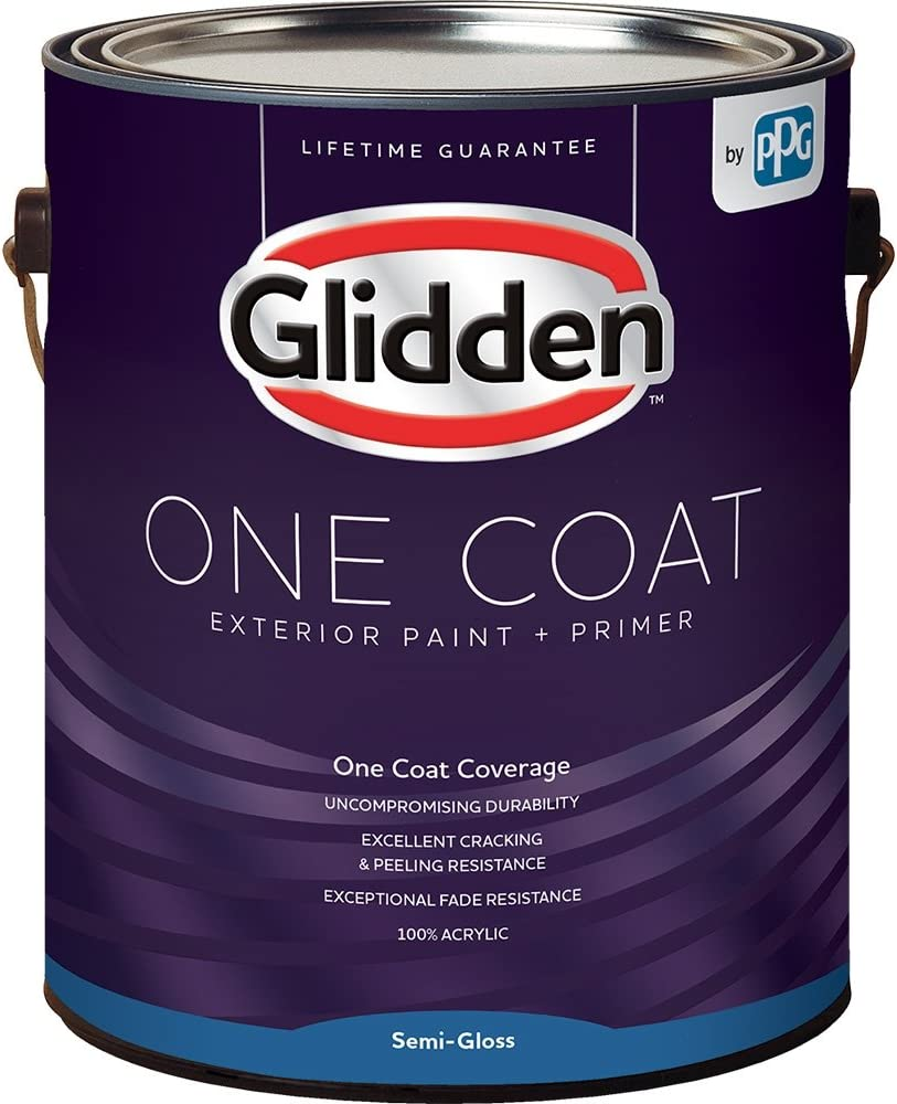 Amazon Com Glidden Exterior Paint Primer Blue Chambray One Coat Semi Gloss 1 Gallon Home Improvement