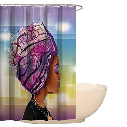 Image Unavailable Not Available For Color QEES African Art Shower Curtain Print