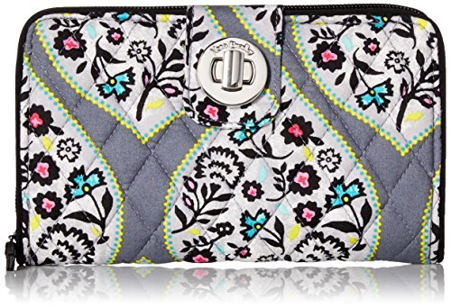 Vera Bradley Women's RFID Turnlock Wallet-Signature, Heritage Leaf, One Size from Vera Bradley