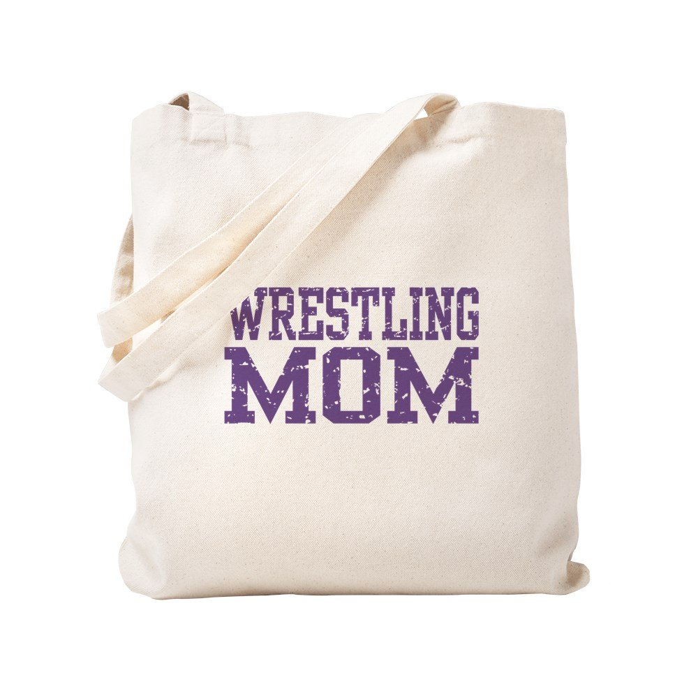 CafePress - Wrestling Mom - Natural Canvas Tote Bag, Cloth Shopping Bag